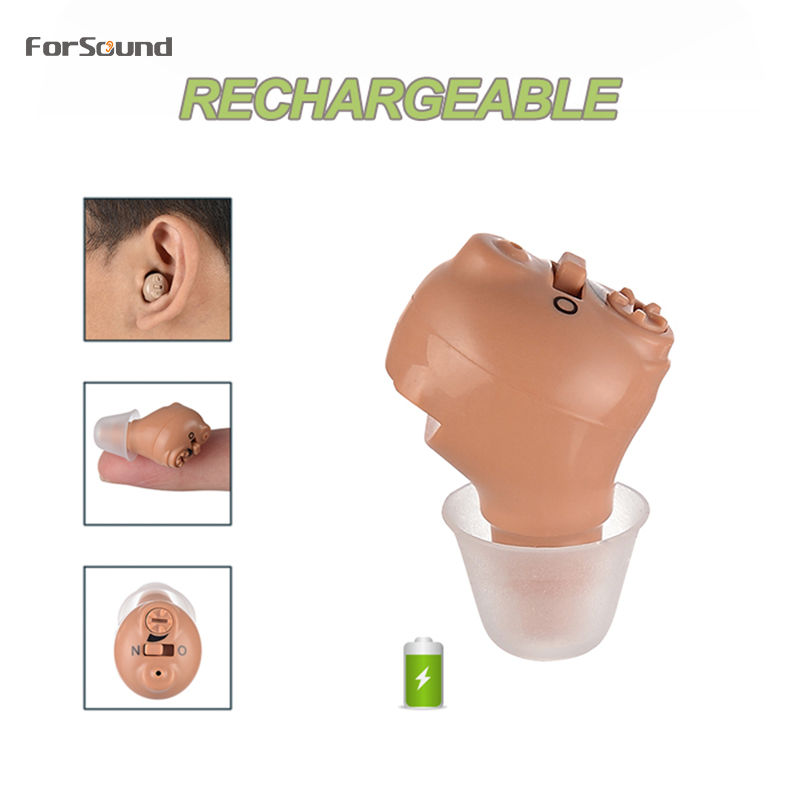 Best Digital Rechargeable Mini Invisible CIC Hearing Aid Ear Sound Amplifier Drop Shipping In Ear AmplifierHearing Aids   -