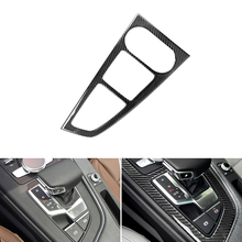 Auto Styling Real Carbon Fiber Center Console Versnellingspook Panel Cover Frame Trim Voor Audi A4L A5 2017 2018/voor A4 B9 2016 2017