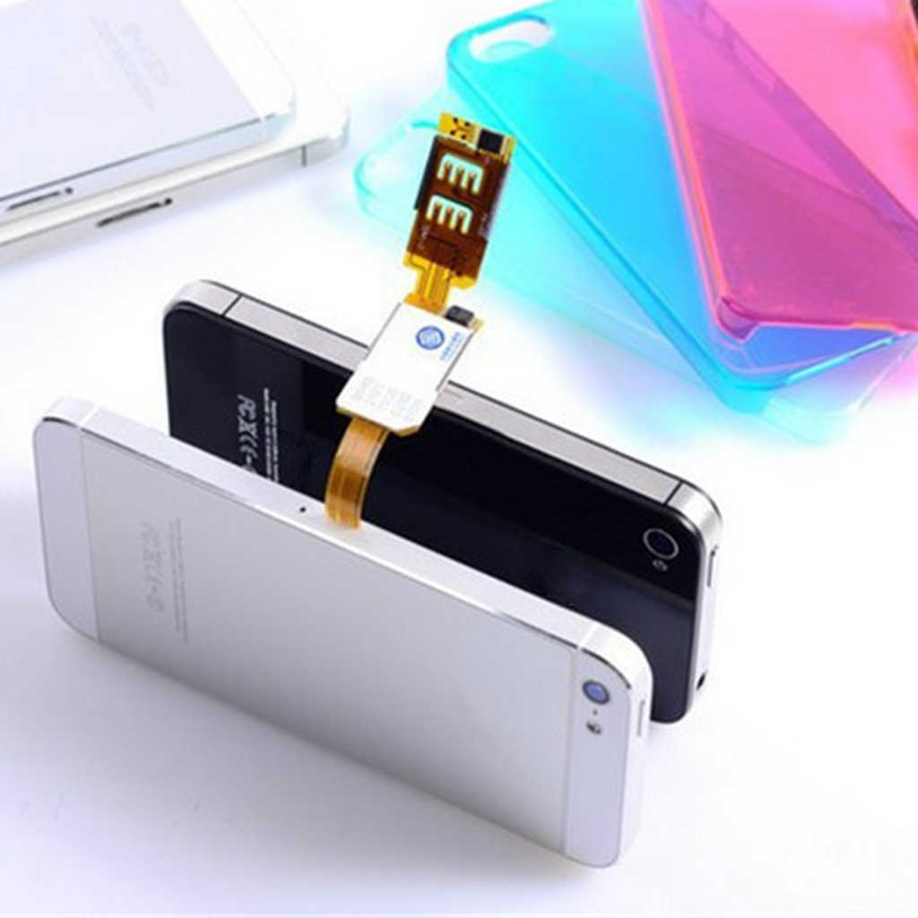 Dual Sim Card Adapter Converer Smartphone Sim Card Adapter Voor Apple Iphone X 8 7 6 S/6/ 5 S/5/4 S Mobiele Telefoon