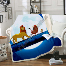 Kids Anime Lion King Simba 3D Blanket Fleece Cartoon Bendy Print Children Warm Bed Throw Blanket newborn bayby Blanket 008