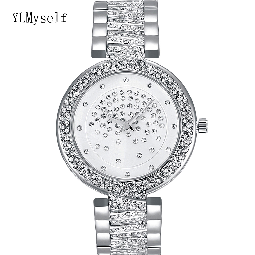 Crystal Nice Watch for women, White and Gold colors, 20cm length Fast shipping Watches Best Gift for mothers birthdayWomens Watches   -