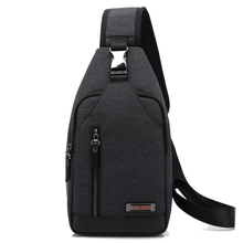 Mens Oxford Cloth Chest Pack Multi-functional Waterproof Anti-Theft Casual Shoulder Bag Outdoor Riding Pocket