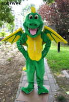 2020 New Design Dinosaur Dragon Wings Mascot Costumes Cartoon Apparel Birthday Party Masquerade Christmas Halloween Outfit