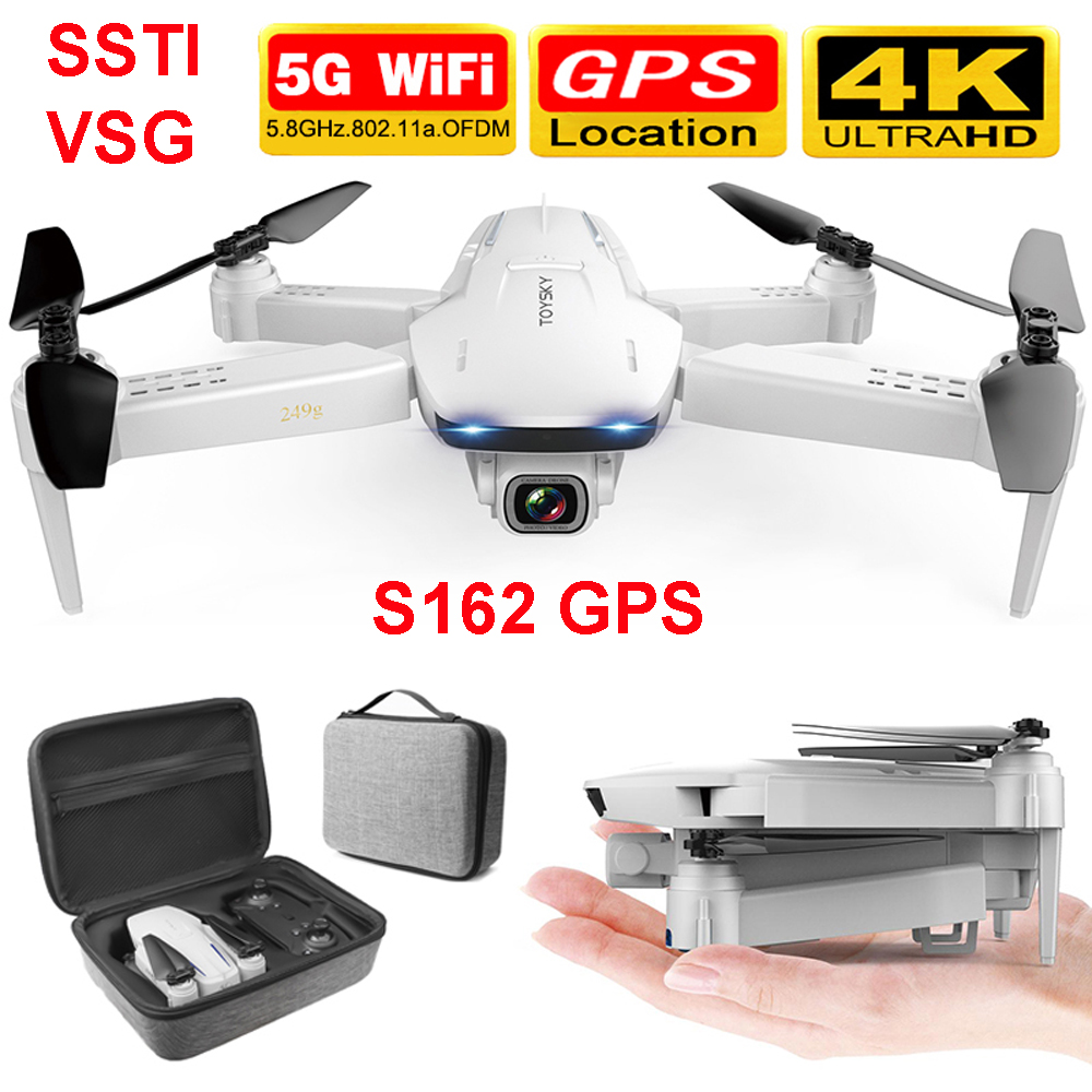 <font><b>drone</b></font> S162 GPS 4K HD 1080P 5G WIFI <font><b>FPV</b></font> Quadcopter flight 20 minutes RC distance 500m dron smart return <font><b>drone</b></font> pro VS SG907 B5W image