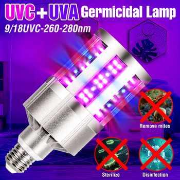 UV Light Sterilizer E27 Led UVC Germicidal Lamp 220V Ultraviolet Disinfecting Led Corn Bulb 110V Remote Control Led Ozone Light - DISCOUNT ITEM  10 OFF All Category