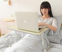 노트북 테이블 게으른 접이식 리프팅 조정 브래킷 침실 작은 테이블 침대 작은 책상 홈 쓰기 테이블 높이기