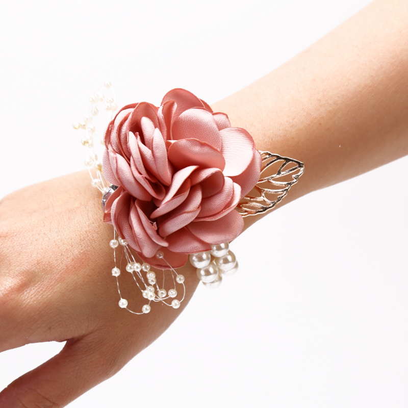 Hot Sale Wrist Flower Girls Bridesmaid Sisters Wedding Prom Party Bracelet Wedding Supply Party Decoration Bridal Prom Acc