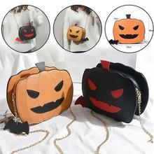 2019 New Women Pumpkin Handbag Halloween Candy Bag Little Devil Shoulder Messenger