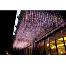 6*3M Curtain LED String Lights Wedding Fairy Lights Garland Outdoor Christmas Lighing Home Garden Decoration Flickering Lamp 3m x 3m icicle fairy string lights christmas led wedding party fairy lights garland outdoor curtain garden decoration