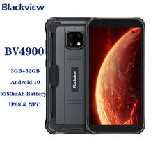 Blackview BV4900 Android 10 telefon przenośny NFC IP68 telefon komórkowy 3GB 32GB Smartphone 5580mAh bateria telefon komórkowy tanie tanio Nie odpinany CN (pochodzenie) Rozpoznawania twarzy Inne Smartfony Pojemnościowy ekran english Rosyjski Niemiecki French