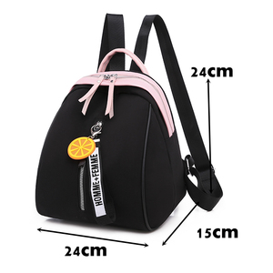 Image 2 - Toposhine Small Oxford Women Backpack Soft Quality Yellow Black Backpack Korea Multi function Shopping Girl Backpack For Lady