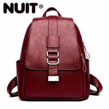 Kadın deri sırt çantaları yüksek kaliteli kese Dos okul çantaları kızlar için seyahat bayanlar sırt çantası katı büyük kapasiteli sırt çantaları kadın