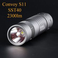 Convoy S11 with SST40 LED Flashlight 2300lm Grey Lanterna 18