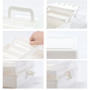 Image 4 - プラスチック製の収納ボックス医療ボックスオーガナイザー 3 層多機能ポータブル医学キャビネット家族緊急キットボックス