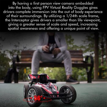 EMAX EAT03 2.4G Electric FPV RC Car With Glasses for Interceptor Full Proportional Control BNR/RTR Model Car Remote Controller 2