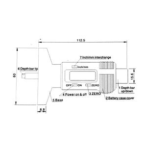 Image 5 - 0 25.4mm הדיגיטלי צמיג צריכת מד LCD תצוגה ברזולוציה 0.01mm סוללה כלולה