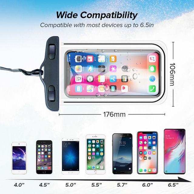 INIU IP68 Universal Waterproof Phone Case Water Proof Bag Mobile Cover For iPhone 12 11 Pro Max 8 7 POCO x3 Xiaomi Redmi Samsung 5