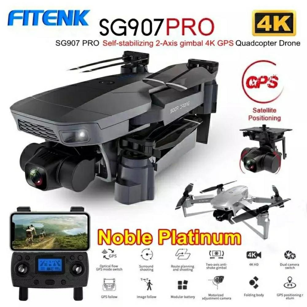 Permalink to FITENK SG907 Pro GPS Drone with 5G Wifi 4K HD 2-Axis Gimbal Camera Supports TF Card Professional RC Quadcopter Dron PK SG906 Pro
