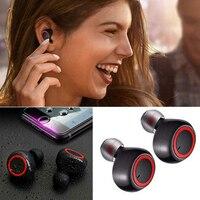Auricolari Wireless Bluetooth resistente al sudore In Ear Mic cuffie Stereo pompaggio cuffie basse per allenamento sportivo palestra PUO88