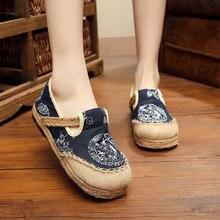 Nuevos zapatos étnicos Vintage para mujer, zapatos hechos a mano, estilo chino, tótem de dragón antideslizante