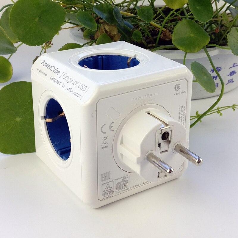 Image 5 - Allocacoc Powercube 4 AC EU Plug Power Strip Socket Travel Adapter 3680W Multiple 2 USB Port Portable Charger 5V 2.1A for phonesPlug With Socket   -