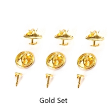 100set Gold Silver Color Base Butterfly Brooch Holder Copper Metal Pins Badge For Diy Jewelry Making Findings