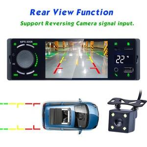 """Image 5 - Lustro Link 1 Din Autoradio samochodowy Radio 4.1 """"ekran dotykowy Auto Audio Bluetooth samochodowe Stereo MP5 odtwarzacz multimedialny kamera cofania"""