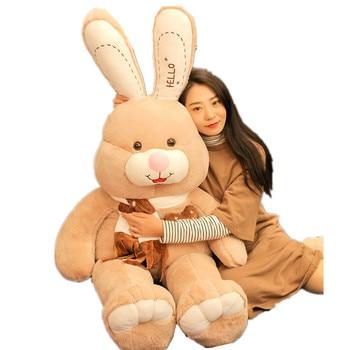 Fancytrader 59'' JUMBO Kawaii Giant Stuffed Rabbit Plush Toy Doll Cute Anime Bunny Hugging Pillow for Girl Gift Decoration 150cm