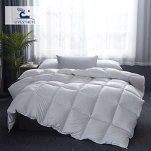 Liv-Esthete High Grade 100% Silk White Comforters Filled Duvets Bedding Double Queen King Healthy Skin Duvet Quilts