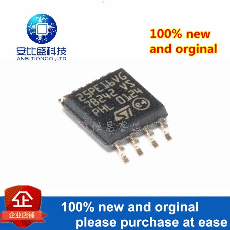 1pcs 100% New And Orginal M25PE16-VMW6TG Silk-screen 25PE16VG 16Mbit SOP8 In Stock