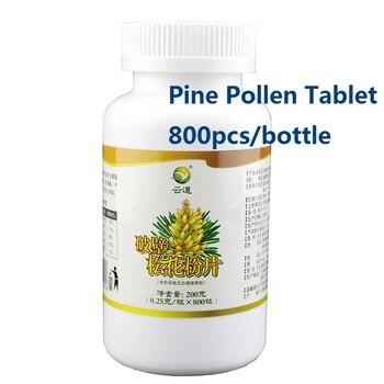 100% Natural Cell-Wall Broken Pine Pollen Tablet 800pcs/Bottle Free Shipping two packs of jiangsu anhui shipping matsuki eijisa 6l 2 82kg lemon pine natural deodorant