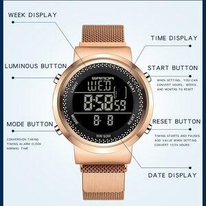 Image 2 - SANDA Top Luxucy Brand Fashion Womens Watches Waterproof Clock Mens Sports Digital Wristwatch relogio feminino Couple Watch