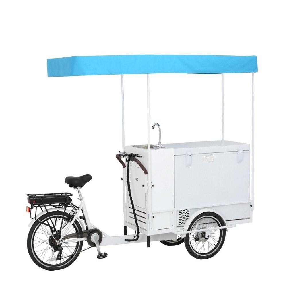 Vélo de cargaison de coupe de vélo de pop-corn de casse-croûte de vélo de crème glacée d'acier inoxydable à vendre