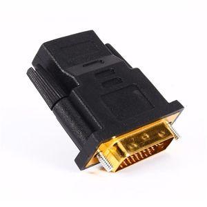 Image 4 - Convertidor de adaptador de HDTV DVI 24 + 1, macho chapado en oro a HDMI hembra 1080P