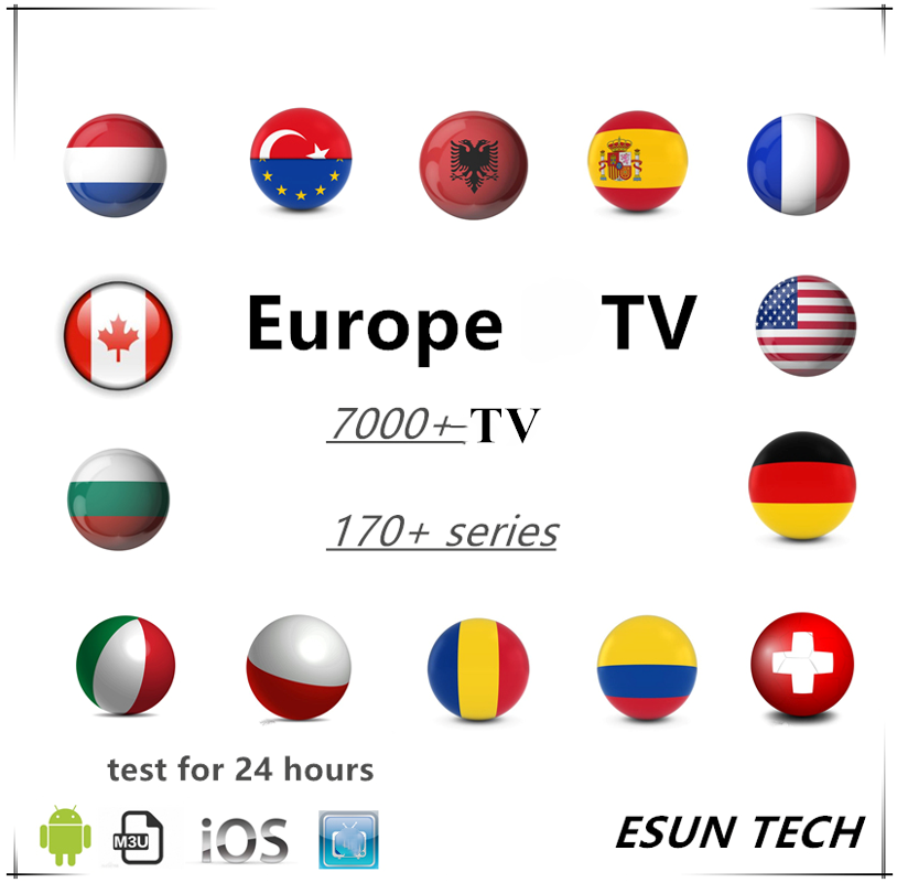French IPTV Arabic Dutch  Android M3u Player Smarters ESUN Premium Server Abonnement