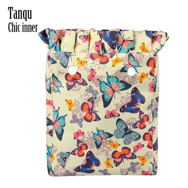 TANQU 2018 Frill Pleat Insert Lining Composite Twill Cloth Inner Pocket for O CHIC Bag OCHIC Waterproof Pocket for Woman Obag