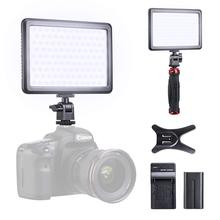 лучшая цена K&F Concept LED Camera Camcorder Video Light Panel for Lighting in Studio or Outdoors 2800K to 6000K Variable Color Temperature