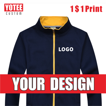 YOTEE autumn and winter casual high-quality stand-up collar zipper jacket group custom LOGO custom men and women jacket цена 2017