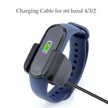 Зарядная база для Xiaomi mi Band 4 3 2 usb зарядный кабель Сменное зарядное устройство mi Band 2 3 4 аксессуары для зарядки