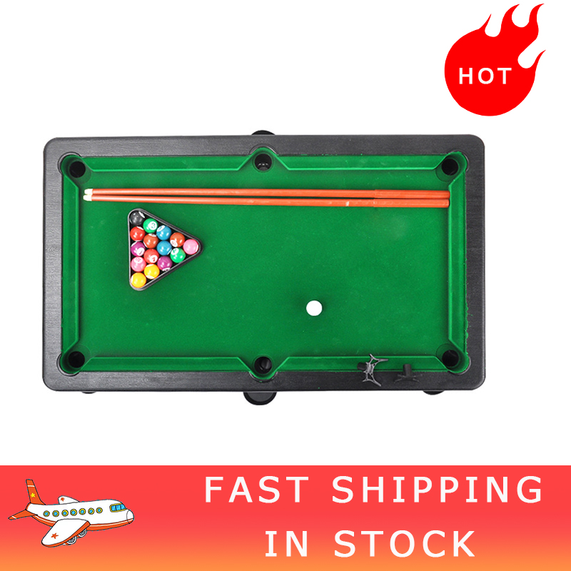Small Tabletop Ball Billiards Home Billiard Game Sets Snooker Tables Pool Table Game Pool Cue Stick Balls Toy For Kids Children