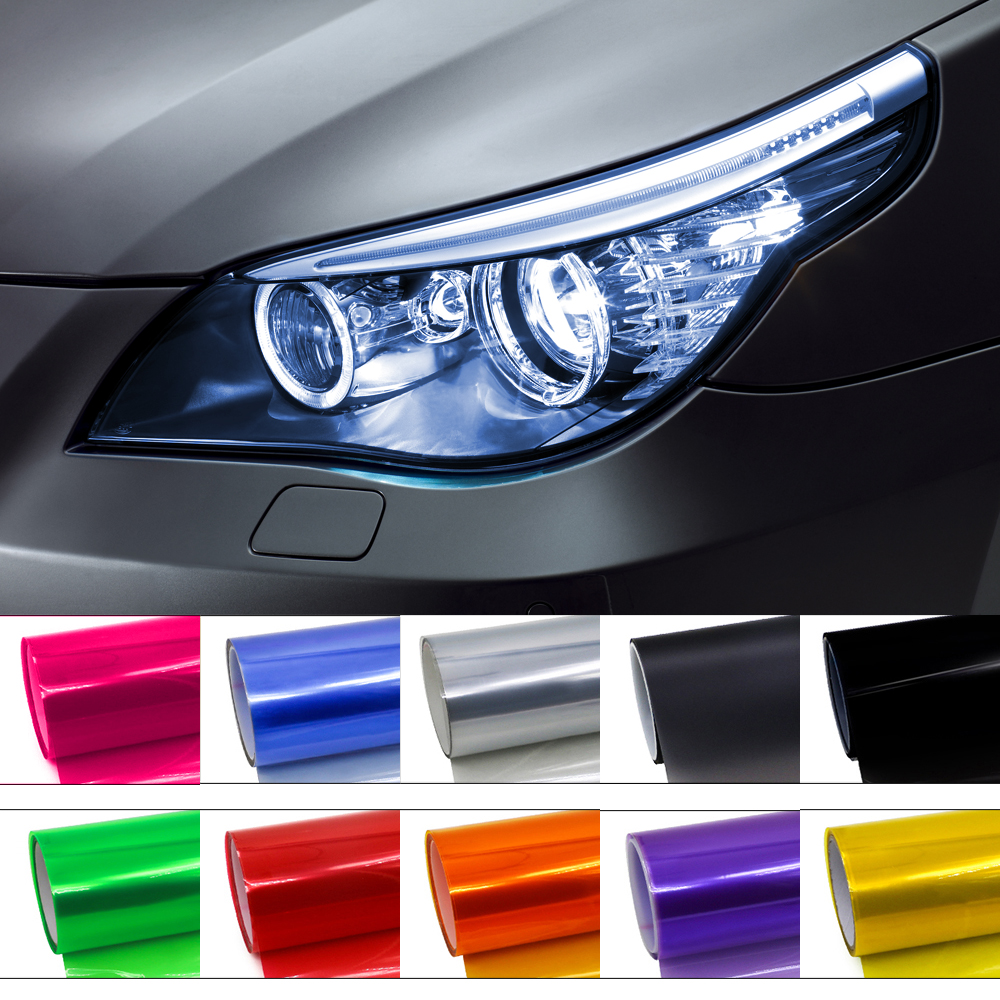 30cmx100cm Car Light Headlight Taillight Vinyl Film For Headlights Tint Wrap Stickers Colorful Vinilo Adhesivo Auto Accessorie