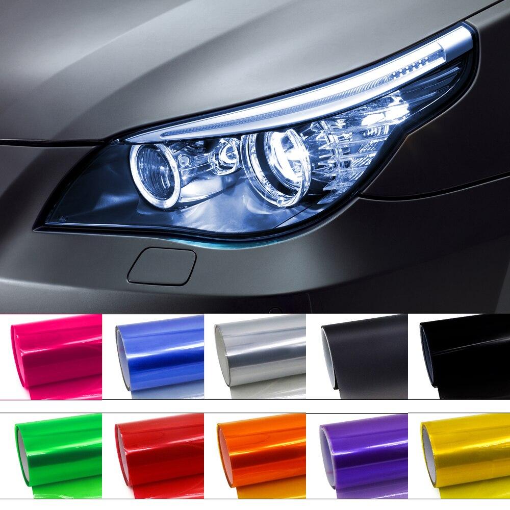 30cmx100cm Car Light Headlight Taillight Vinyl Film For Headlights Tint Wrap Stickers Colorful Vinilo Adhesivo Auto Accessorie