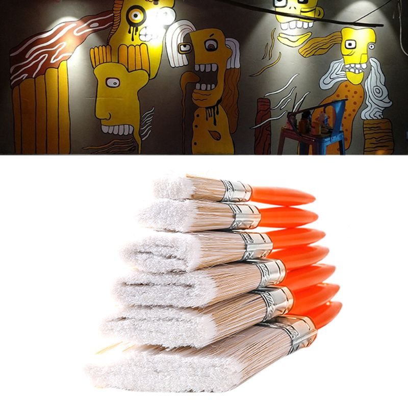 New House Decorative Paint Brush Acrylic Oil Wooden Building Painting Household Tool Wall Decoration Cleaning Brushes1-4 In