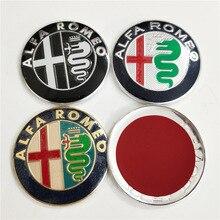 74mm Alfa Romeo kafa Hood Bonnet ön arka gövde tampon önyükleme Sticker oto amblem Logo rozeti araba Styling aksesuarları