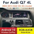 Андроид 10 Беспроводной CarPlay 8 + 64G для Audi Q7 4L 2005 ~ 2015 MMI 2G 3G GPS навигации Автомобильный мультимедийный плеер Радио Стерео Wi-Fi