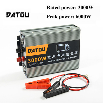 6000W Modified Sine Wave Inverter DC 24V to AC 220V Truck Voltage Converter Rated 3000W Charger Converter Adapter Truck Inverter inverte 12v 220v 6000w pure sine wave inverter 6000w ac to dc 12v 24v 36v to 110v 120v 240v