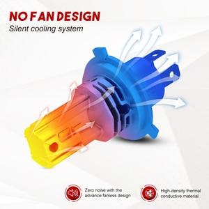Image 4 - NOVSIGHT Kit de faros antiniebla para coche, Mini lámpara LED H4 H7 Bombillas de faros led H9 H8 H11 H7 12v 24v 9005 HB3 9006 HB4