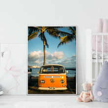 Nordic Scandinavian Decoration Tropical Landscape Posters Modern Prints Sea Beach Bus Bike Wall Art Canvas Painting Pictures