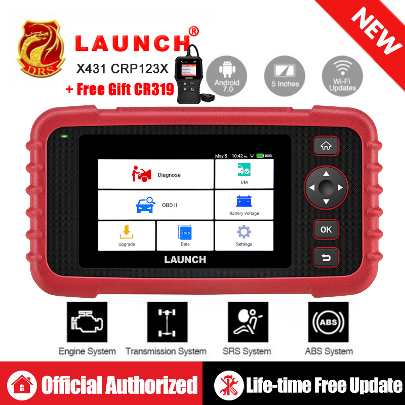 Launch CRP129 X431 CRP129X Creader VIII 8 Code Reader OBDII Diagnostic Tool OBD2 Scanner ENG AT ABS SRS EPB SAS OIL Service EOBD