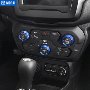 Image 2 - MOPAI Car Interior Air Conditioning Audio CD Adjustment Button Decoration Ring for Jeep Renegade 2018 Up Car Styling